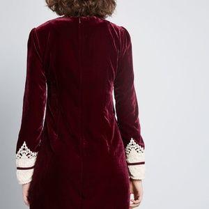 02d3853387f7c Anna Sui Dresses | Modcloth X Charisma Calls Velvet Dress | Poshmark